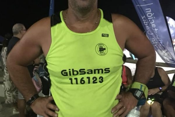 Christian Celecia participated in the 6th edition of the Moon Trail Run in Barbate and proudly wore his GibSams running vest.