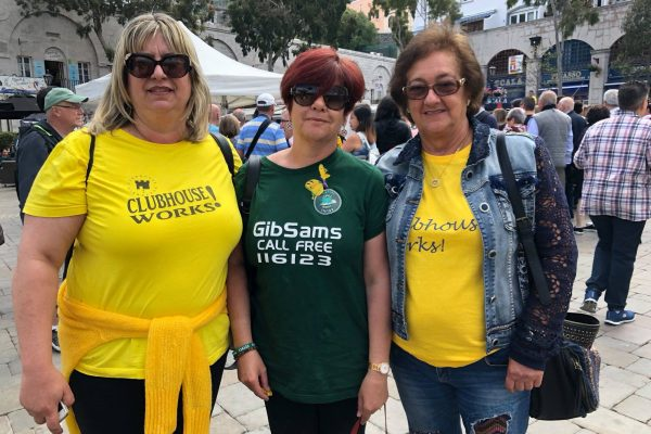 GiBSams volunteers supporting Mental Health awareness at Casemates