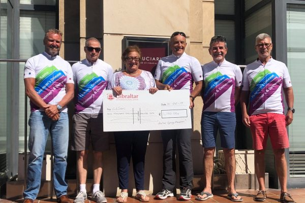 24 hour charity cycling event with  Ian, Michael, Peter, Jimmy and Mark with Chairperson Marielou