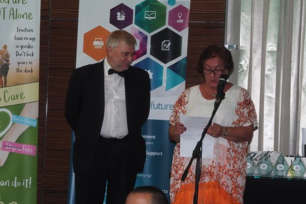 Wellbeing Awards with Minister for Culture Linares