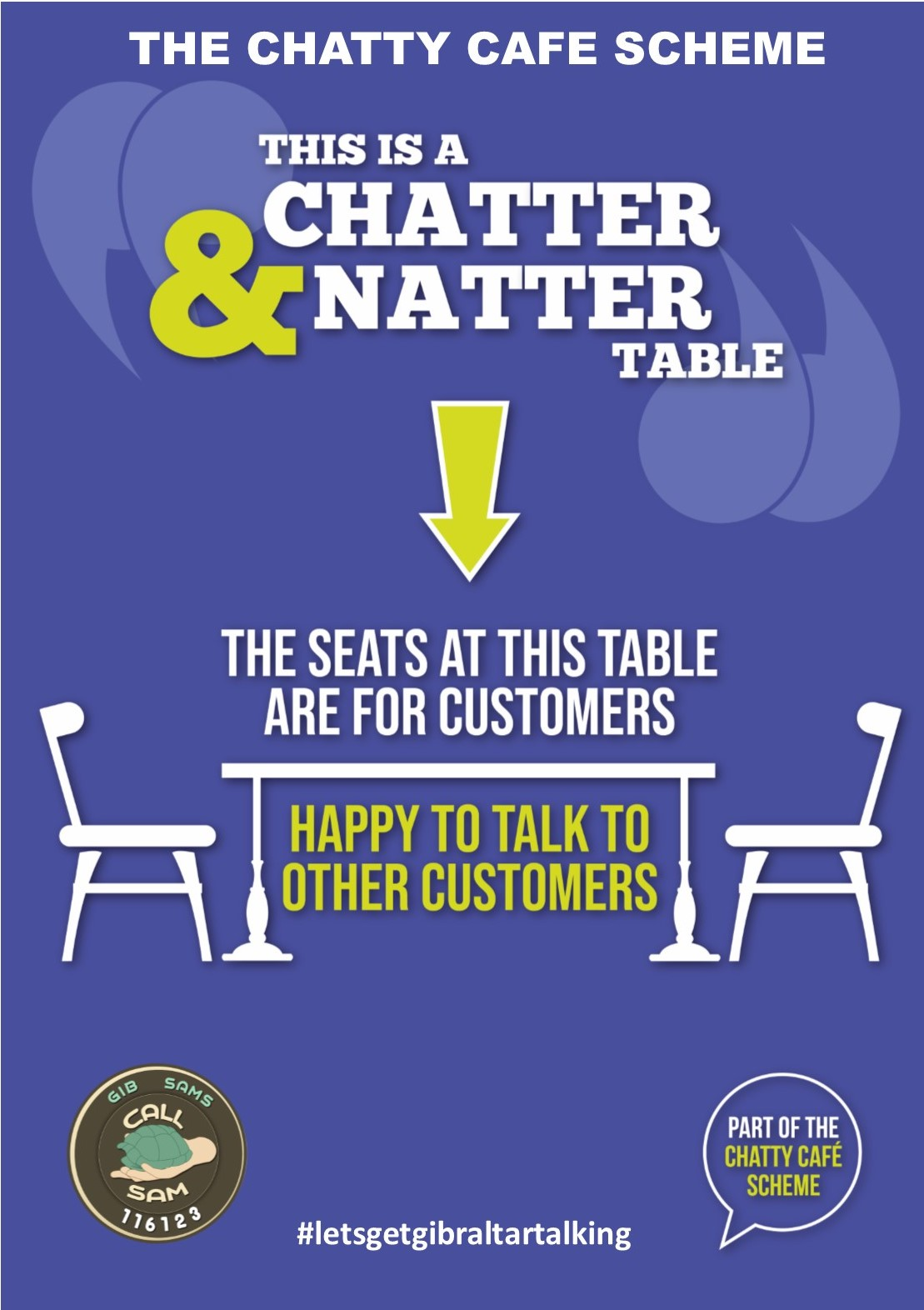 Chatty Cafe Poster